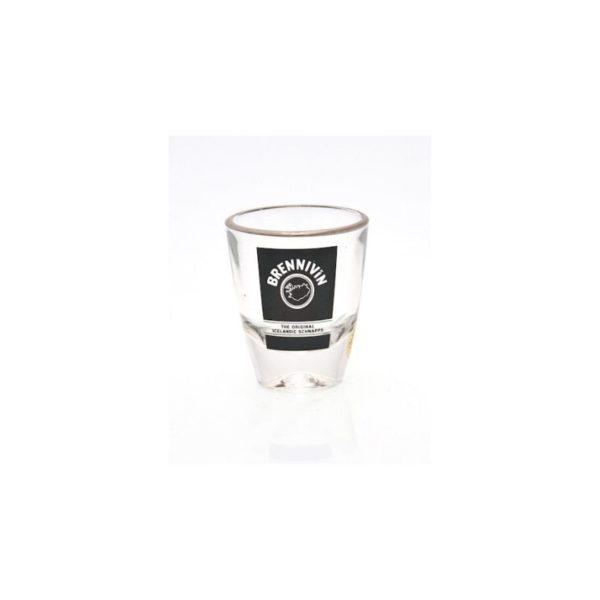Brennivin shot glass for Icelandic most popular spirit