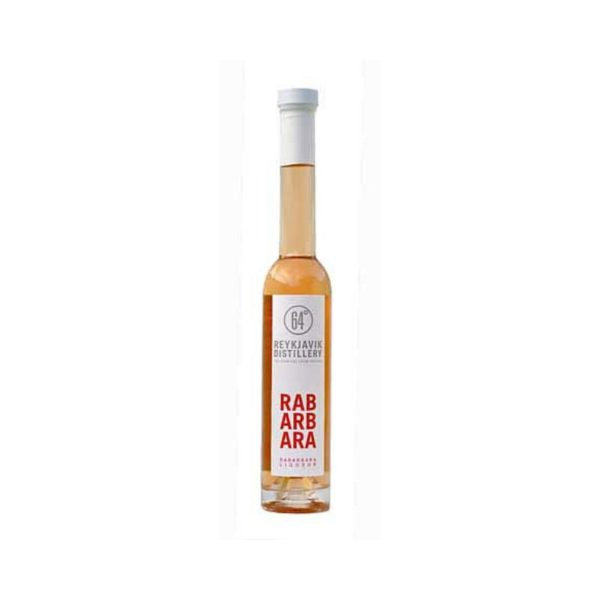 Rabarbaralikjor bottle of Icelandic rhubarb liqueur snaps