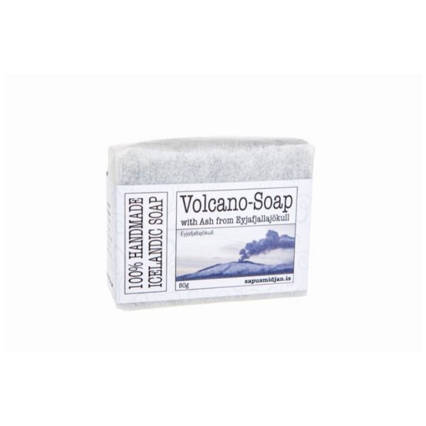 Volcano soap from Iceland with ash from Eyjafjallajökull