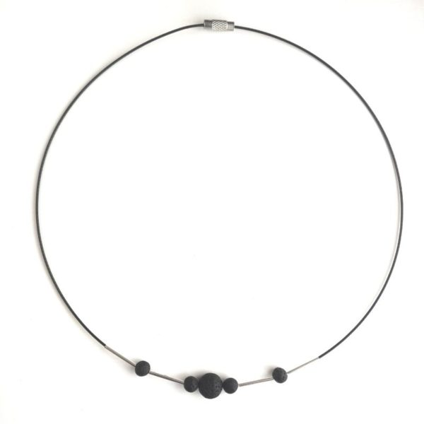 Icelandic lava necklace