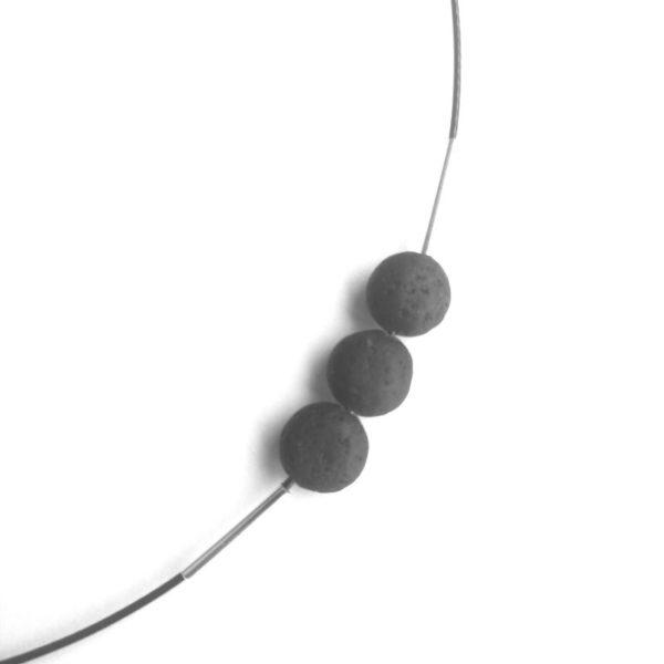 Icelandic lava necklace detail